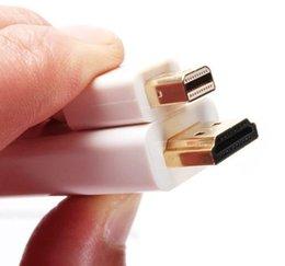 Wholesale Displayport Vga Converter Cable - 20pcs lot*3M 10FT Thunderbolt Mini DisplayPort Mini Display Port Male to HDMI Male Converter cable For Apple Macbook Mac Pro