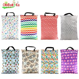 Wholesale Bag For Cloth Diaper - Ohbabyka Lovey Hanging Wet Bag Reusable Cloth Diaper Bags for mum Large Garbage Bag Zippered Washable Baby Diapers Dry Wet Bag