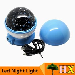 Wholesale Night Projector Light Lamp Hearts - Bedroom New Night Light Projector Lamp Rotary Flashing Starry Star Moon Sky Star Projector Lamp Children's Children Of Baby Kids