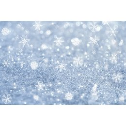 Wholesale Digital Christmas Backdrops - Winter Snowflake Bokeh Photography Backdrops Vinyl Fabric Digital Printed Baby Newborn Christmas Holiday Photo Shoot Backgrounds for Studio