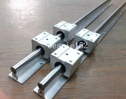 Wholesale Cnc 16mm Bearing - 2 X SBR16-1205mm 16MM FULLY SUPPORTED LINEAR RAIL SHAFT + 4 pcs SBR16UU BEARING BLOCK CNC