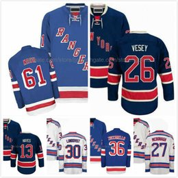 Rick Nash Jersey 61 Jimmy Vesey 26 Kevin Hayes 13 Ryan McDonagh 27 Henrik  Lundqvist 30 Mats Zuccarello 36 Ice Hodkey Jerseys NY Rangers S-3X 299ec732a