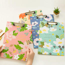 Wholesale A4 Paper Folder - Wholesale-The students in the A4 folder board Clip Notes file folder clip notes paper stationery writing pad