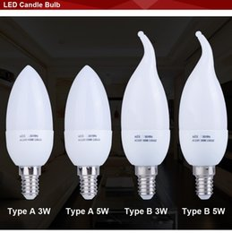 Wholesale Led Bulb Energy Saving E14 - E14 Led Candle Light Energy Saving Lamp Bulb Lights Led E14 5w 3w 220V Home Lighting Decoration Bulb Lamp