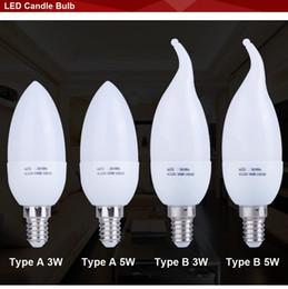 Wholesale E14 Candle Led Globe - E14 Led Candle Light Energy Saving Lamp Bulb Lights Led E14 5w 3w 220V Home Lighting Decoration Bulb Lamp