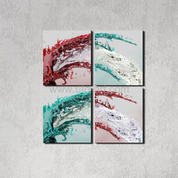 Wholesale Large Framed Posters - Home Abstract Oil Painting Water Decoration Painting Decor Large Art Print Poster Wall Pictures Canvas Painting No Framed 4pcs