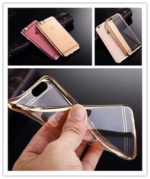 Wholesale Colorful Galaxy - For Galaxy S7 Case Colorful TPU Backcover Ultra Thin Case For Iphone 6s Plus Galaxy S6 Edge Note5 Electroplating Technology Soft Silicone