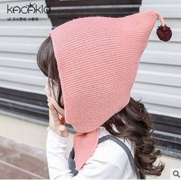 Wholesale Scarves Girls Baby Bow - Kids hat fashion new girls pompon ear muff winter warm windproof hat babies lace-up bows cap baby hats and scarf sets for kids caps T0360