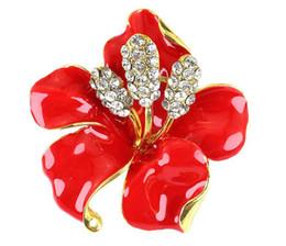 10 pcs 6 couleurs cristal clair pavot fleur broches broches grande taille broches bouquet mariage broches 2016 octobre style ? partir de fabricateur