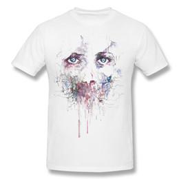 Wholesale 6xl T Shirts - Mens Shorts T-Shirt Print Own Depressed Figure T Shirt Hombre Printed Tee Shirts Black New Cotton Cotton XS-6XL Shirt