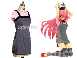 Wholesale Lucy Cosplay - Free shipping Elfen Lied Lucy Cosplay Costume