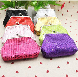 Wholesale Denim Tie Dye Shorts - 8 colors NEW fashion womens mini coin wallet kids change purse Sequins candy-colored shiny coin purse bag gift