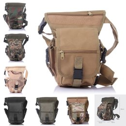Wholesale Bike Fabric - Camo Military 600D Thigh Pack Waist Belt Polyester Fabric Drop Leg Bag For Motorcycle Outdoor Bike Cycling 7 Color E601L