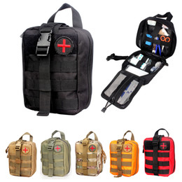 Wholesale Medical Pouches - Vpanda Nylon First Aid Bag Tactical Medical Pouch EMT Emergency EDC Rip-Away Molle Survival IFAK Utility Car First Aid Bag Hot Xmas Gift