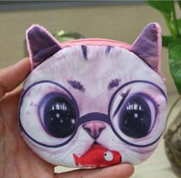 Wholesale Cheap Change Purses - 3D Printing wallets Ha sunkist Border Collie Pug Dog Coin Purses Fashion Purse Wallet handbag Cute Change Bags Zipper for women men cheap