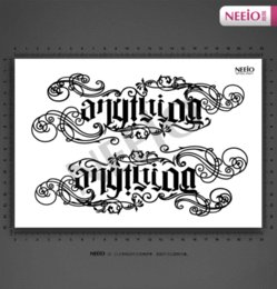 Wholesale Huge Arm - Women Temporary Tattoo Stickers Waterproof Anything Large English Letter Design body scar makeup huge arm tattoo paste