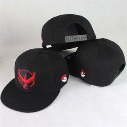 Wholesale Wholesale Snapbacks For Kids - Pokeball Cap Casual Poke Mon Embroidery Baseball Hat Instinct Valor Mystic Team Peaked Caps Snapbacks Hats for Adult and Kids