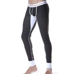 Wholesale Low Rise Long Johns - Wholesale-2016 New SEOBEAN Men's sexy Long johns Low Rise Thermal Underpants All size