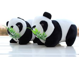 Wholesale Panda Baby Cloths - 2016 New Christmas gift cute Panda Plush Toy wedding doll baby bear lying Posture sitting style presents two kinds of choice