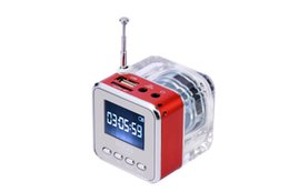 Wholesale Computer Multimedia Speakers - NiZHi TT-029 Multimedia Speaker Portable Mini Music MP3 4 Player Micro SD TF USB Disk Speaker Amplifier FM Radio LCD Display