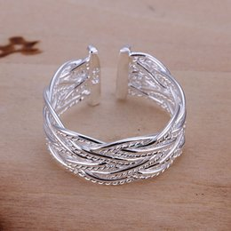 Wholesale online sterling silver - Online for sale high grade Small textured 925 silver ring TYSR023 brand new factory direct sale sterling silver finger rings