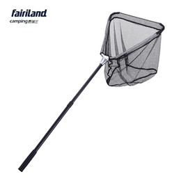 Wholesale Pe Net - Fairiland 1.3m 40*40cm aluminum folding fishing landing net fishing net brailer telescopic pole PE net fishing landing tools fish gear