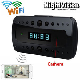 Wholesale Surveillance For Home - T10 WiFi Hidden Camera 1080P Alarm Clock Cam with Wireless and Motion Detection Night Vision IR surveillance for Home Security Baby Monitor