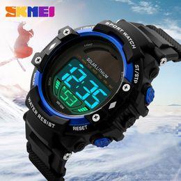 Wholesale Men Watches Solar - SKMEI Brand Solar Energy Watch Men Sports Watches Military Outdoor Dress Clock LED Digital Wristwatches Waterproof Relogio 1129