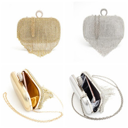 Wholesale Diamond Studded Handbags - diamond-studded Ring Evening Bag Evening Bag Diamond Women Rhinestone Banquet Handbag Day Clutch Chain Banquet Handbags KKA3096