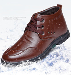Wholesale Korea Winter Shoes - Wholesale new winter men's shoes for South Korea style with casual non slip breathable plus velvet wool snow boots