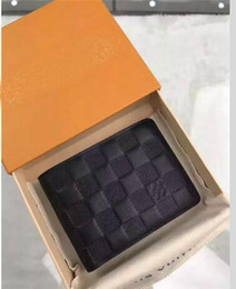 Wholesale Designer Chain Belt - 2017 designer G wallet men brand Genuine Leather square wallet luxury leather purse men top quality Money Purse belt hats with box