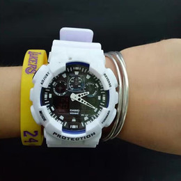 Wholesale Camel Time - Watches Promotion Hardlex New Arrival Plastic Unisex Retail Fashion G Watch, ga100 Time Zone Watch Watches,free Shipping