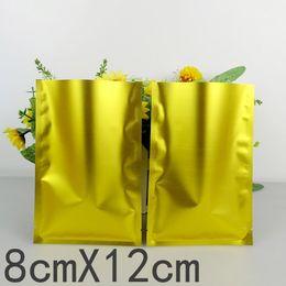 grossisti di plastica Sconti 500pcs / lots 8cm * 12cm * 160mic sacchetti di plastica di vendita al dettaglio di borse di plastica d'oro di alta qualità grossista grossista