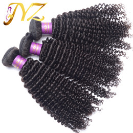 Wholesale Indian Remy Kinky Curly Hair - Goldleaf Mongolian kinky curly virgin hair 3 pieces lot 100% brazilian human hair weaving kinky curly Peruvisan Malaysian Hair Extensions