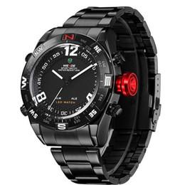 2019 relógios de pulso sports weide WEIDE Moda Full Steel Men Esporte Relógio De Quartzo Digital Led Marca Relógio Homens Relogio Masculino relógios de pulso sports weide barato