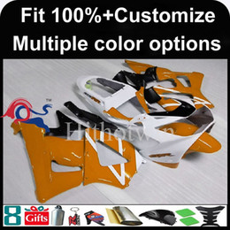 Wholesale Honda Cbr929rr Fairing Red Injection - 23colors+8Gifts Injection mold orange motorcycle cowl for HONDA CBR929RR 2000-2001 CBR929RR 00 01 ABS Plastic Fairing