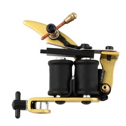 Wholesale Tattoo Machines Kits Sale - Wholesale- NEW Liner Shader Professional Tattoo Machine Gun Coils Kit Stainless 2016 Hot Worldwide sale