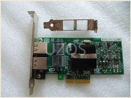 Wholesale Used Network - Wholesale- Original disassemble for Intel pro 1000pt dual - port PCI - E Gigabit server network card 9402PT 82571