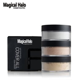 Wholesale Halo Set - Wholesale-1pc Magical Halo Finishing Powder Matte Loose Powder Waterproof Brighten Concealer Oil-control Primer Setting Powder With Puff