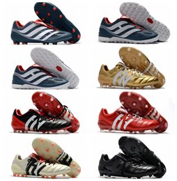 Wholesale Cheap Beige Boots - 2018 mens soccer cleats Predator Precision TF IC turf football boots Predator Mania Champagne FG indoor soccer shoes high quality cheap Hot