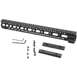 Wholesale 15 Inch Free Float Handguard - Newly design 15 inch AR-15 M16 KeyMod Series One Piece Free Float Handguard