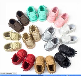 Wholesale Crochet Lace Baby Sandals - Small seven tassels baby shoes soft soled sandals soled sandals baby 12pair