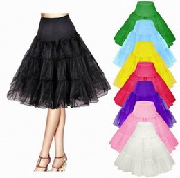 "Wholesale Chiffon Skirt Wholesale - Women Dress Women Skirt 26"" Retro Underskirt 50s Swing Vintage Petticoat Rockabilly Tutu Fancy Net Skirt"