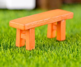 Wholesale Bench Garden - 50pcs Resin Wooden Bench Miniatures Landscape Accessories For Home Garden Cake Decoration Scrapbooking Craft Diy