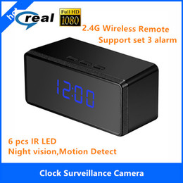Wholesale Best Hd Spy Cameras - Best Nanny Cams of 2016 HD Alarm Clock with Night , Full HD 1080P Spy Camera Clock Security NannyCam motion detectioin