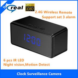 Wholesale Nanny Cam Clocks - Best Nanny Cams of 2016 HD Alarm Clock with Night , Full HD 1080P Spy Camera Clock Security NannyCam motion detectioin