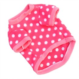Wholesale Dog Coat Dot - Lovely Pet Dog Puppy Star Dot Leopard T-shirt Fleece Hoodie Coat Clothes Tops dog apparel more colors