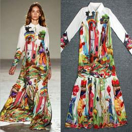 5f6b040b1dd0 High Quality Newest Fashion Runway Maxi Dress Women s Long Sleeve Retro Art  Printed Designer Long Dress Plus size S-3XL