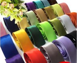 Deutschland 2017 super günstige hochzeit zubehör herren krawatte satin krawattenstreifen einfarbig tie neck für bräutigam Versorgung