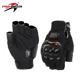 white leather gloves half Promo Codes - Wholesale- PRO-BIKER Motocross Off-Road Racing Riding Gloves Breathable Half Finger Gloves Motorcycle Motorbike Luvas Gloves Protector Gear
